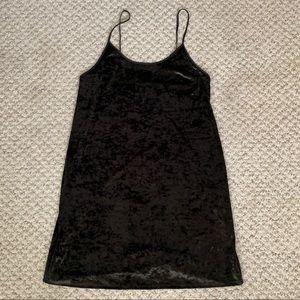 Victoria's Secret Black Velvet Velour Dress